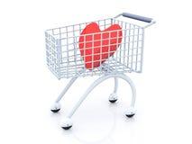 Einkauf für Liebe Stockbild