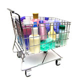 Einkauf für Schönheits-Produkte Lizenzfreie Stockbilder