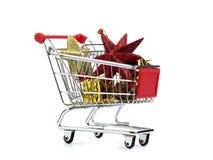 Einkauf für Weihnachten Stockfotos