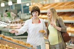 Einkauf im Supermarkt Stockbilder