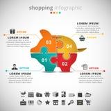 Einkauf infographic stock abbildung