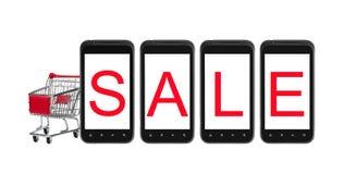 Einkauf am intelligenten Telefon Lizenzfreie Stockfotografie