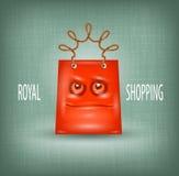 Einkauf königlich Stockfotografie