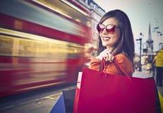 Einkauf in London Stockfoto