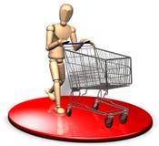 Einkauf mit Laufkatze Lizenzfreies Stockbild