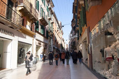 Einkauf in Rom Stockbild