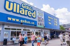 Einkauf an ScandinaviaÂs größtem Kaufhaus Lizenzfreies Stockfoto