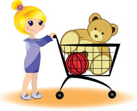 Einkauf. Spielzeugsladen Stockfoto