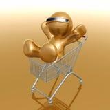 Einkaufen 3d Humanoidikone Lizenzfreies Stockfoto