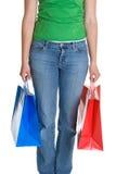 Einkaufen-Beutel-Mädchen lizenzfreies stockbild