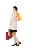 Einkaufen der jungen Dame Lizenzfreie Stockbilder