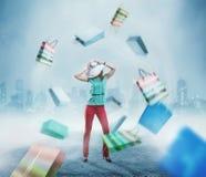 Einkaufen der jungen Frau Stockfotos