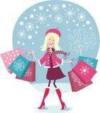 Einkaufen des jungen Mädchens Lizenzfreie Stockbilder