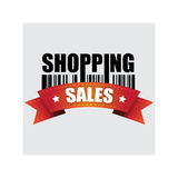 Einkaufen, Fahne, Vektorillustration Lizenzfreie Stockfotografie