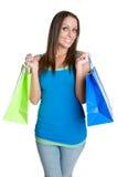 Einkaufen-Frau stockfotografie