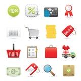 Einkaufen-Ikonen eingestellt Lizenzfreie Stockbilder
