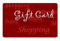 Einkaufen-Karte Stockfoto