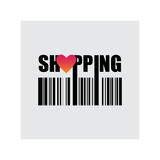 Einkaufen, Liebeskauf, Vektorillustration Stockfotos