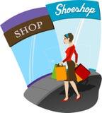 Einkaufen-Mädchen Lizenzfreie Stockbilder