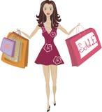 Einkaufen-Mädchen Lizenzfreies Stockbild