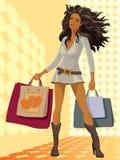 Einkaufen-Mädchen vektor abbildung
