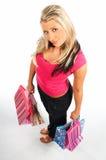 Einkaufen-Mädchen lizenzfreies stockfoto