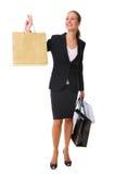 Einkaufen-Mädchen Stockbild