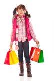 Einkaufen-Mädchen stockfotografie