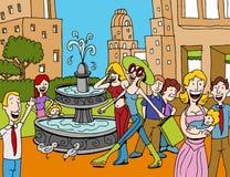 Einkaufen-Piazza Lizenzfreies Stockbild