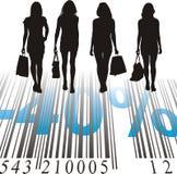 Einkaufen-Rabatt, vierzig Prozent stock abbildung