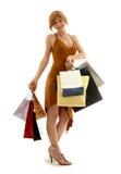 Einkaufen Redhead Lizenzfreie Stockfotos