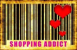 Einkaufen-Süchtiger Lizenzfreies Stockfoto