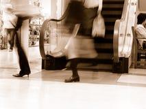 Einkaufen-Sepia Stockbild