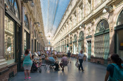 Einkaufen-Säulengang in Brüssel Stockbilder