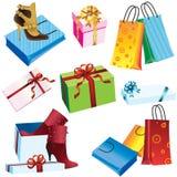 Einkaufen und Geschenke Stockbild