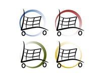 Einkaufen-Wagen Stockfoto