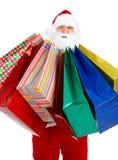 Einkaufen-Weihnachten Sankt stockbild