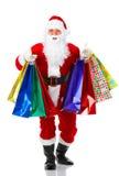 Einkaufen-Weihnachten Sankt stockbilder