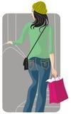 Einkaufenabbildungserie Stockbild