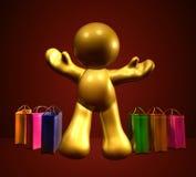 Einkaufenaufregung Stockfoto