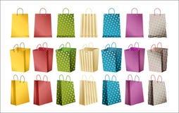 Einkaufenbeutelvektor Stockfotos