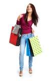 Einkaufenfrau. Stockfotografie