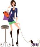 Einkaufenfrau Lizenzfreie Stockbilder