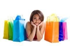 Einkaufenfrau Stockbilder