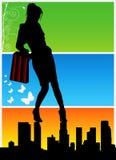 Einkaufenfrauenvektor 2 Stockfotos