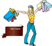 Einkaufenfreude Stockbilder