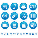 Einkaufenikonen Lizenzfreies Stockfoto