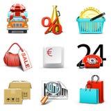 Einkaufenikonen | Bella Serie lizenzfreie abbildung