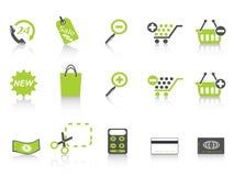 Einkaufenikonen-Grünserie Stockbild