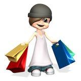 Einkaufenjunge Lizenzfreies Stockfoto